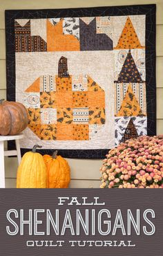 ideas for tube quilting tutorials wall hangings Missouri Quilt Tutorials, Quilting Tutorials, Quilting Projects, Quilting Ideas, Crazy Quilting, Halloween Quilt Patterns, Halloween Quilts, Halloween Sewing Projects, Halloween Crafts