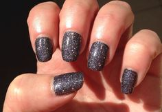China Glaze Some Like It Haute over a black base - this is gorgeous in real life - so sparkly!