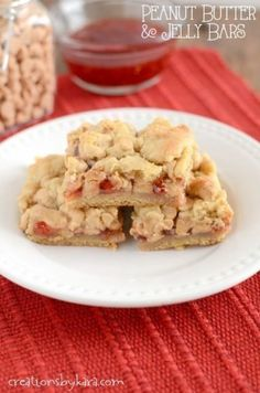 Peanut Butter and Jelly Bars - a classic childhood favorite, made into a decadent treat. You are sure to love them!