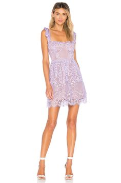 9131a7cfa6f For Love   Lemons Valentina Lace Mini Dress in Lavender