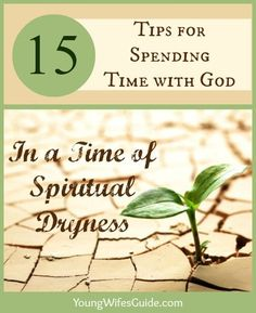 There have been times throughout my life where I simply found it hard to open my bible or pray. I wanted to be closer to God but I felt distant from Him and I didn't know why. I just felt spiritually drained and dry. Click here for some tips for spending time with God...even when you don't want to!