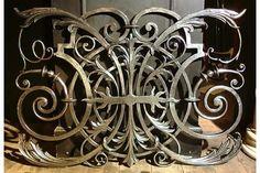 French cast iron decorative polished panel.