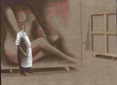 Les belles peintures - acrylique sur toile 46 x 33 cm