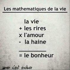 Citation Les mathématiques de la vie.