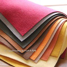 w505_95 - Wool Felt Sheets - scrap bundle - (30cm x 30cm) X 10 pieces by billycottonshop0413 on Etsy