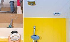 Raccorder une VMC simple flux dans un faux plafond. Door Handles, Construction, Home Decor, Plumbing, Ceiling, Bath, Bricolage, Projects, Building