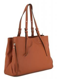 Damentasche Gianni Chiarini Twin Zucca karamell orangebraun - Bags & more Orange Braun, Twins, Tote Bag, Bags, Fashion, Leather Bag, Pouch, Handbags, Moda