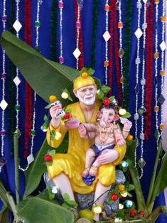 Ganesh Bhagwan, Sai Baba Wallpapers, Sathya Sai Baba, Cute Krishna, Shri Ganesh, Om Sai Ram, Indian Gods, Good Morning Images, Christmas Ornaments