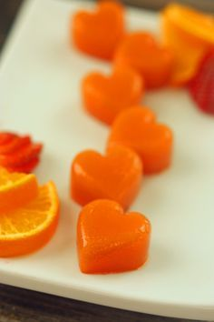 Homemade Fruit Chews; only fresh fruit juice and unflavored gelatin.