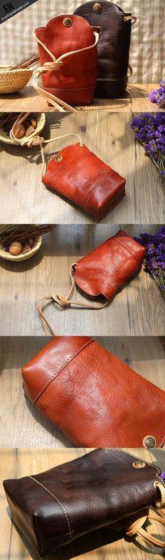 Handmade Leather bag for women leather phone bag shoulder bag