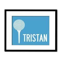Golf Personalized Art Print Childrens Sports Art - via @etsy