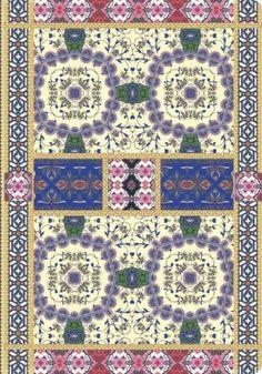 Amrita Sen Floral Border Gilded Bound Lined Journal 5.25 x 7.125