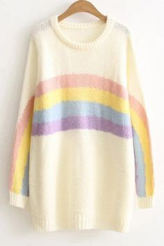 Paintings (mostly) — rainbow sweater