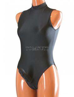 TOMSUIT Lycra Spandex Turtleneck Sleeveless Swimsuit Dancewear Leotard