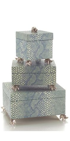 Luxury Wedding Gift Ideas, Designer              Silver Turtle  Snake Jewelry Boxes, so beautiful, one of over 3,000 limited production interior design inspirations inc, furniture, lighting, mirrors, tabletop accents and gift ideas to enjoy repin and share at InStyle Decor Beverly Hills Hollywood Luxury Home Decor enjoy  happy pinning