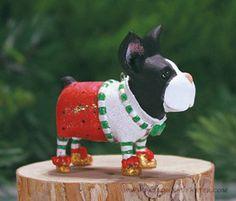 Mini Boston Terrier Ornament