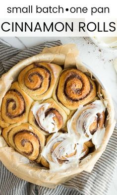Small batch cinnamon rolls for two. One pan of cinnamon rolls, perfect for weeke… Small batch cinnamon rolls for two. One pan of cinnamon rolls, perfect for weekend mornings. Dog Treat Recipes, Baking Recipes, Baking Breads, Baguette, Overnight Cinnamon Rolls, Breakfast Recipes, Dessert Recipes, Breakfast Ideas, Dishes Recipes