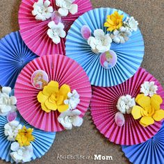 Cute Princess Flower Medallions from @Rachel Joyce @ Architecture of a Mom @ArchofaMom