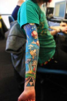 Gaming tattoo sleeve