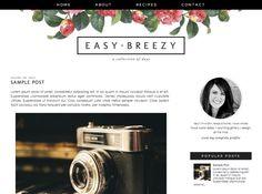 $15 Breezy | by Kristin - Blog Design | Blogger Templates - Designer Blogs
