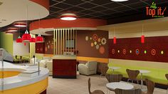 Restaurant Interior Design and Branding - TopIt Yogurt Shop Branding and Interior Design