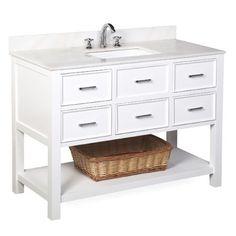 KBC New Hampshire 48 Single Bathroom Vanity Set Base Finish: 48061921079016472 Vanity Cabinet, Vanity Set, Vanity Ideas, Single Bathroom Vanity, Master Bathroom, Downstairs Bathroom, Single Vanities, Narrow Bathroom, Modern Bathroom
