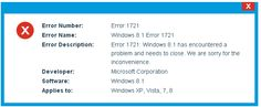 Want to fix Windows 8.1 error 1721, apply the given professional methods to make your windows system error free