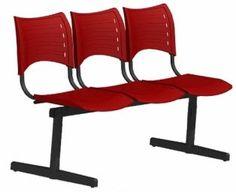 Cadeira para escritório pp polipropileno secretária fixa - plástico iso - sobre longarina ce04sl