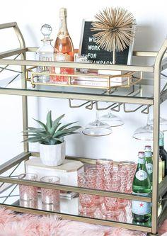 Home Bar Build . Home Bar Build . 42 Stunning Home Bar Design Ideas for Your Sweet Home Bar Cart Styling, Bar Cart Decor, Diy Bar Cart, Mini Bars, Retro Home Decor, Easy Home Decor, Home Bar Decor, Home Design, Design Ideas