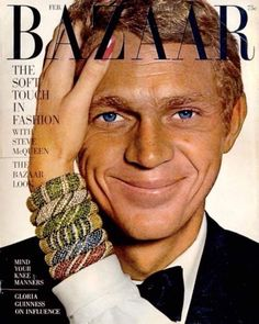When Ruth Ansel put Steve McQueen, photographed by Richard Avedon, on the cover of Harpers Bazaar in it was the first time a male appeared on the cover of a womens fashion magazine