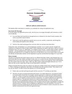 university application essay