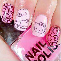 Photo by iiNailsArt(iinailsart): Hello kitty nails  هيلوكتي روعة ع... | iPhoneogram