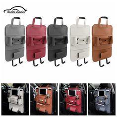 Car Backseat Multi-Pocket Phone Cup holder PU Leather Seat Organizer Vehicle Auto Seat Storage Bag