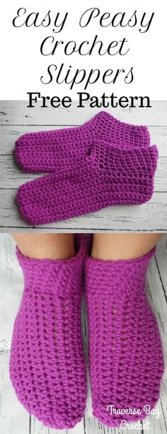 Trendy Ideas Knitting For Beginners Baby Booties Crochet Slippers Easy Crochet Slippers, Crochet Slipper Pattern, Crochet Shoes, Booties Crochet, Crochet Baby, Knit Crochet, Crochet Cardigan, Crochet Granny, Knitting Patterns Free