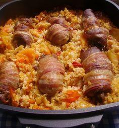 Padlizsános tarja - Kifőztük, online gasztromagazin Paleo, Beef Recipes, Sausage, Pork, Food And Drink, Meat, Ethnic Recipes, Meat Recipes, Kale Stir Fry