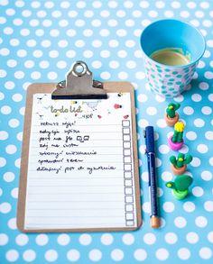 clipboard, dots, blue, mug, cup, coffee, cactus, to-do list, photo: Zenja blog