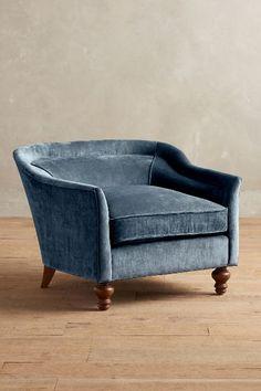 Slub Velvet Holloway Armchair - #anthrofave
