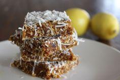 Lemon  cocnut and date slice