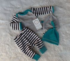 Baby boy coming home outfit//Stripes by LilTrendiesBoutique