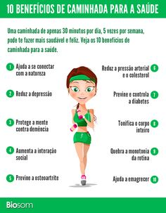 Clique na imagem e veja os 10 benefícios de caminhada para a saúde. #atividadefisica #esporte #caminhar #caminhada #natureza #saúde #vidasaudavel #fitness