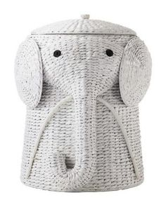 Home Decorators Collection 18 in. W Animal Laundry Hamper in White from Home Depot | BHG.com Shop  $80 though....