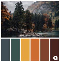Fall Color Schemes, Color Schemes Colour Palettes, Fall Color Palette, Colour Pallette, Color Combos, Vintage Color Palettes, Vintage Color Schemes, Room Colors, House Colors