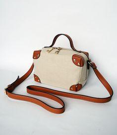 Lovely gift for boho lovers. Beie and brown Handbag – Handbag Trunk – a unique product by Fizka-hand-made via en.DaWanda.com