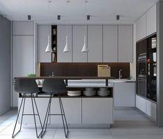 Modern apartment kitchen design 659 best kitchen inspirations images on pin Small Modern Kitchens, Luxury Kitchens, Modern Kitchen Design, Interior Design Kitchen, Cool Kitchens, Kitchen Designs, Modern Design, Ikea Kitchens, Kitchen Layouts