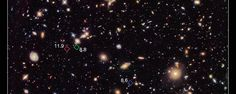 """Astronomers using the NASA/ESA Hubble Space Telescope have uncovered seven primitive galaxies from a distant population that formed more than 13 billion years ago. In the process, their observations have put forward a candidate for the record for the most distant galaxy found to date (at redshift 11.9), and have shed new light on the earliest years of cosmic history. The galaxies are seen as they were when the Universe was less than 4 percent of its present age."""
