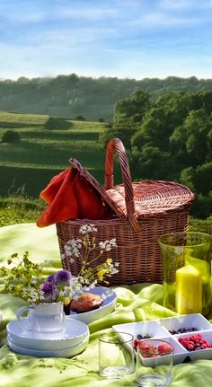 "Do you prefer a romantic picnic to a fancy restaurant dinner? Are the best moments those spent relaxing ""alfresco style?"" Reminiscent of the French countryside, a Moveable Feast wedding theme. Picnic Time, Summer Picnic, Summer Fun, Summer Time, Picnic Parties, Picnic Set, Summer Days, Romantic Picnics, Learn To Cook"