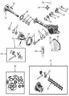 790e1b0bcce063864950187ed947fc9e jeep cj exploded view rear axle amc model 20 exploded view diagram jeep rear axle axle diagram at gsmx.co