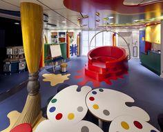 Nieuw Amsterdam Kids area Kindergarten Interior, Kindergarten Design, Kids Play Area, Kids Room, Kids Indoor Playground, Kids Cafe, Building For Kids, Kids Corner, Freundlich
