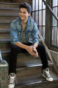 Sarah Kehoe Candy Shop : Denim Daze | Attractive male model on steps | Men's Fashion | Fashion Photography