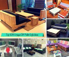 Wooden Pallet Deck Furniture | Pallet Furniture DIY